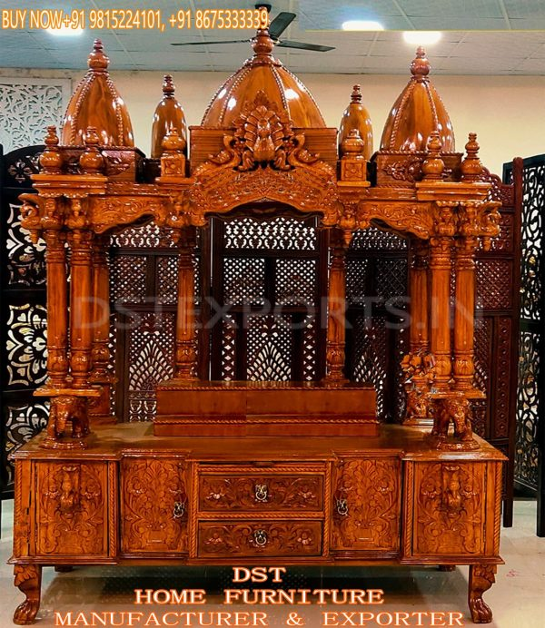 Buy Big Size Wooden Temple For Home