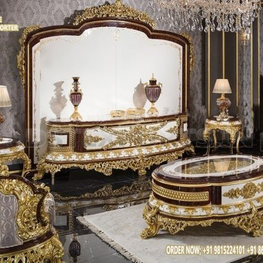 Classical Living Room TV Showcase Furniture Set