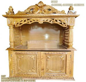 High End Teak Wood Temple With Storage