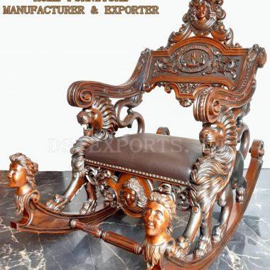 Indian Teak Wood Rocking Chair Manufacturer