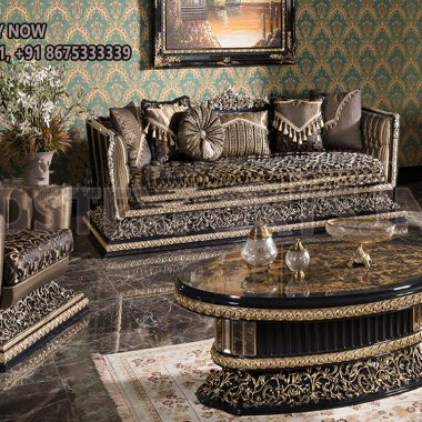 Special Carving 6 Seater Living Room Sofa Set