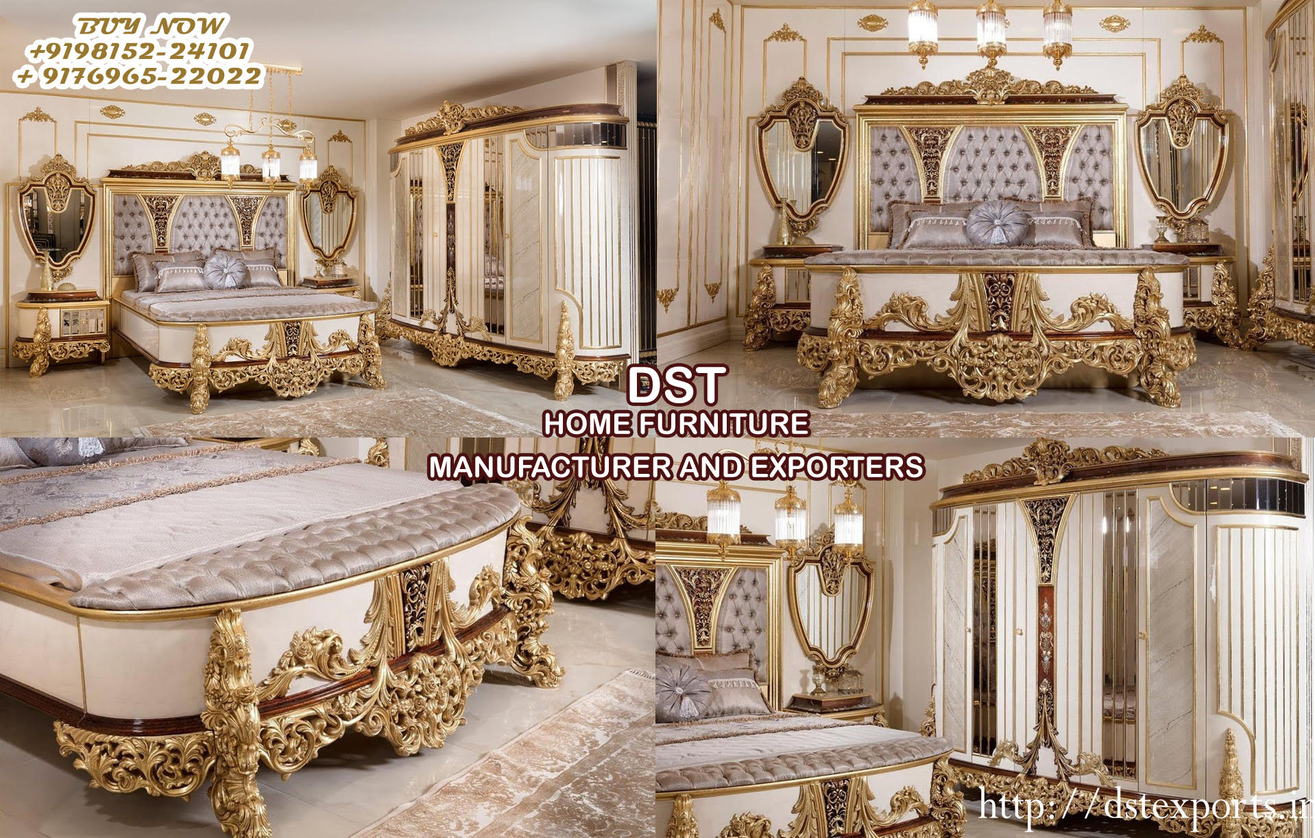 Luxurious Mansion Style Bedroom Furniture Set