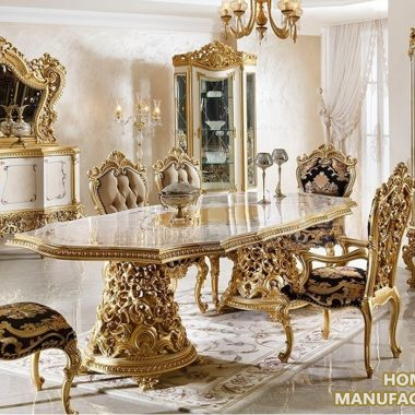 Luxury Baroque Style Dining Room Furniture Set