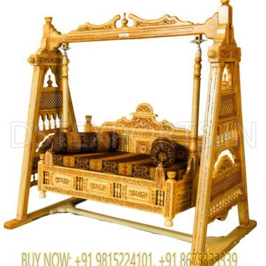 Teak Wood HandiCraft Swing For Living Room
