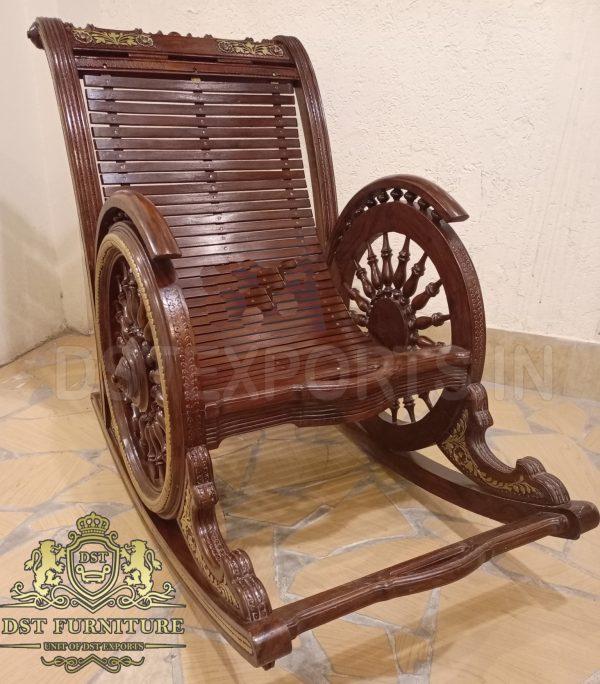Antique Furniture Rocking Chair in Teak Wood