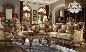 Antique Victorian Wooden Carved Living Room Sofa Set