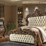 Antique Wooden Crafted Bed & Bedroom Furniture Set