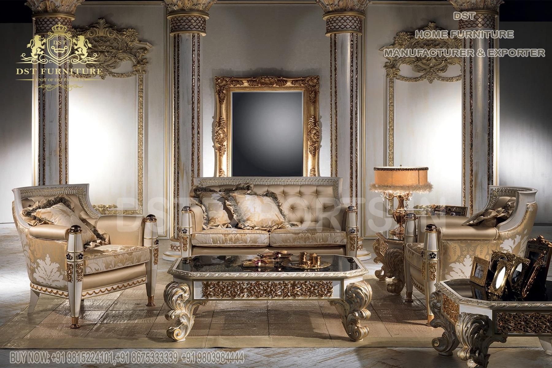 Classic European Hand Carving Living Room Furniture
