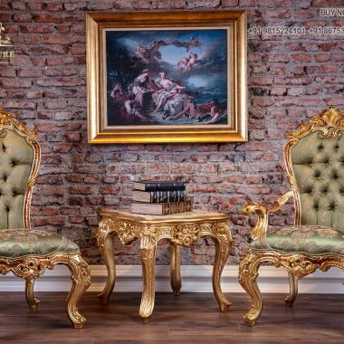 European Style Wooden Lounge Chairs For Living Area
