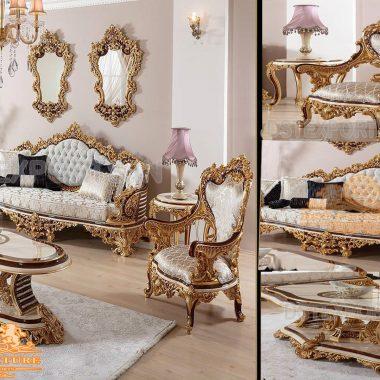 Hand Carved Sofa Set For Living Room