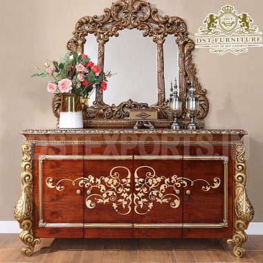 Latest Wooden Carved Console Table & Mirror