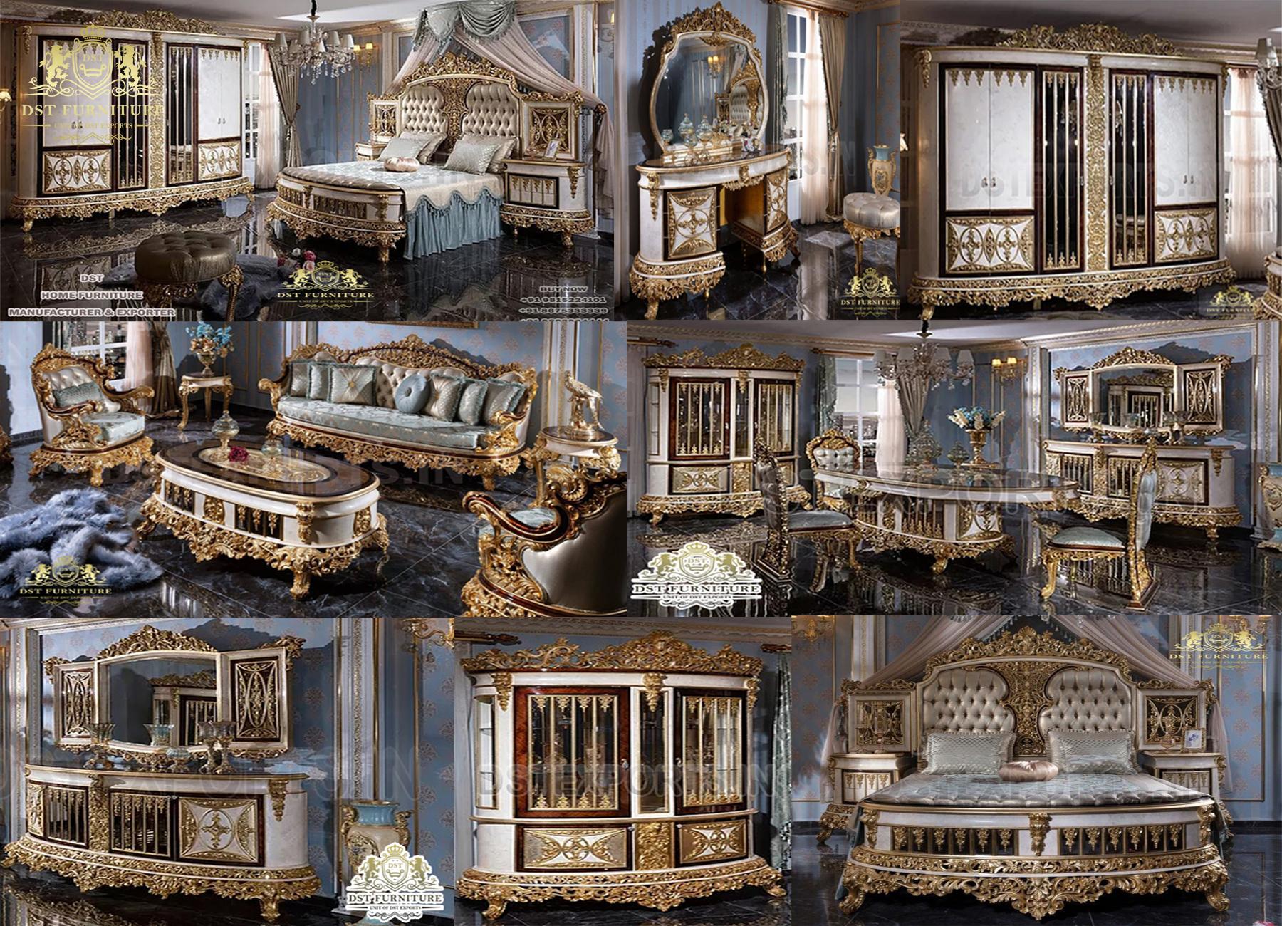 Luxury Upholstered Crown Style Bedroom Furniture Set.jpg