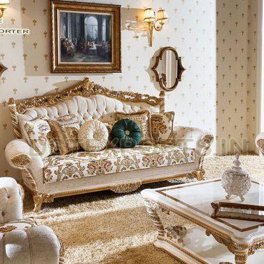 Luxury Wooden Handicraft Living Room Furniture Se