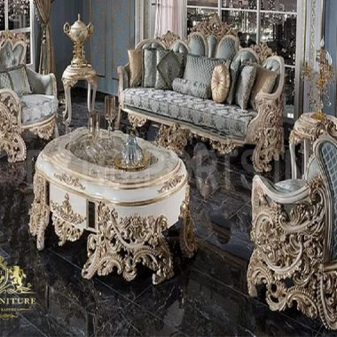 Royal French Rococo Style Living Room Furniture Set