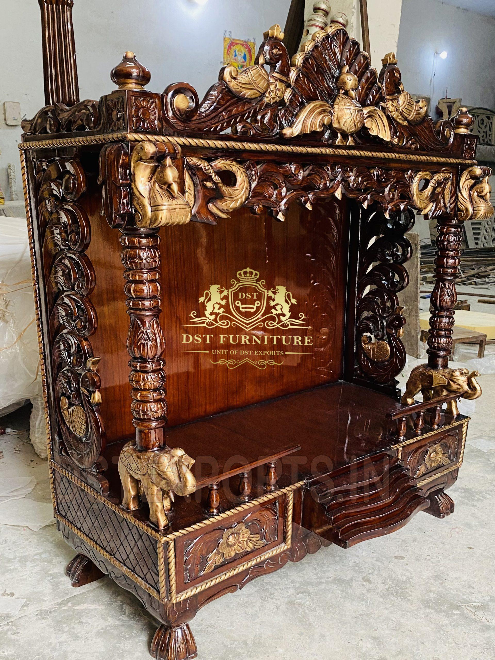Traditional Teak Wood Big Temple Home Decor