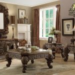 Victorian Coffee Table in Brown Finish