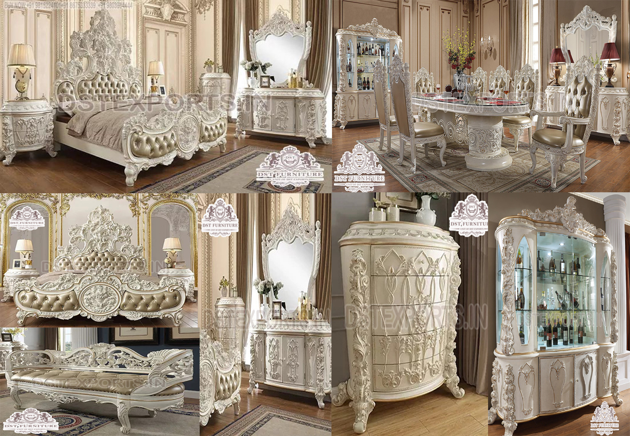 Victorian White Hand Carving Royal Bedroom Furniture.jpg