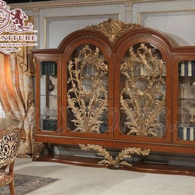 Antique French Style Display Cabinet For Home