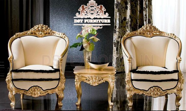 Baroque Style Luxury Living Room Chairs