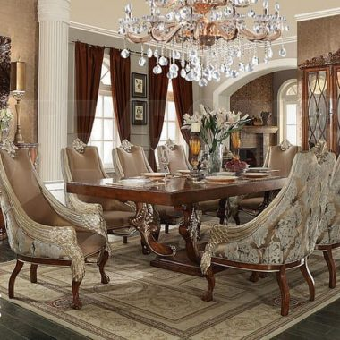 Classic Style Formal Dining Table Set