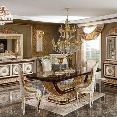 Classical Italian Carved Dining Room Furniture