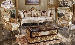 Classical Italian  Carved Sofa Set For Drawing Room