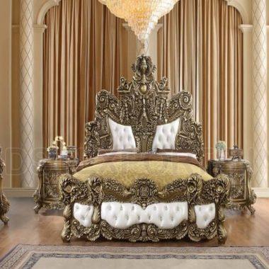 European Baroque Style Antique Bedroom Furniture Set