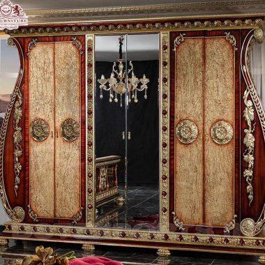 Hand-Carved European Wardrobe For Bedroom