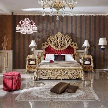 Italian Baroque Style Bed & Bedroom Furniture