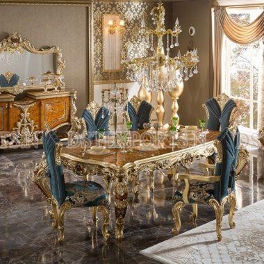 Royal Carving Teak Wood Dining Room Furniture