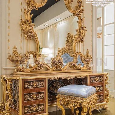 Royal Heavy Wooden Crafted Dressing Table Set