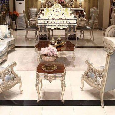 Royal Silver Finish Drawing Room Furniture