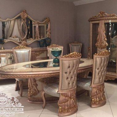 Royalty Style Italian Dining Room Furniture Set
