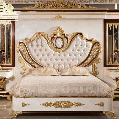 Wooden Crafted Luxury Master Bedroom Furniture