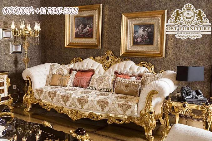 Golden Carved Sofa Set