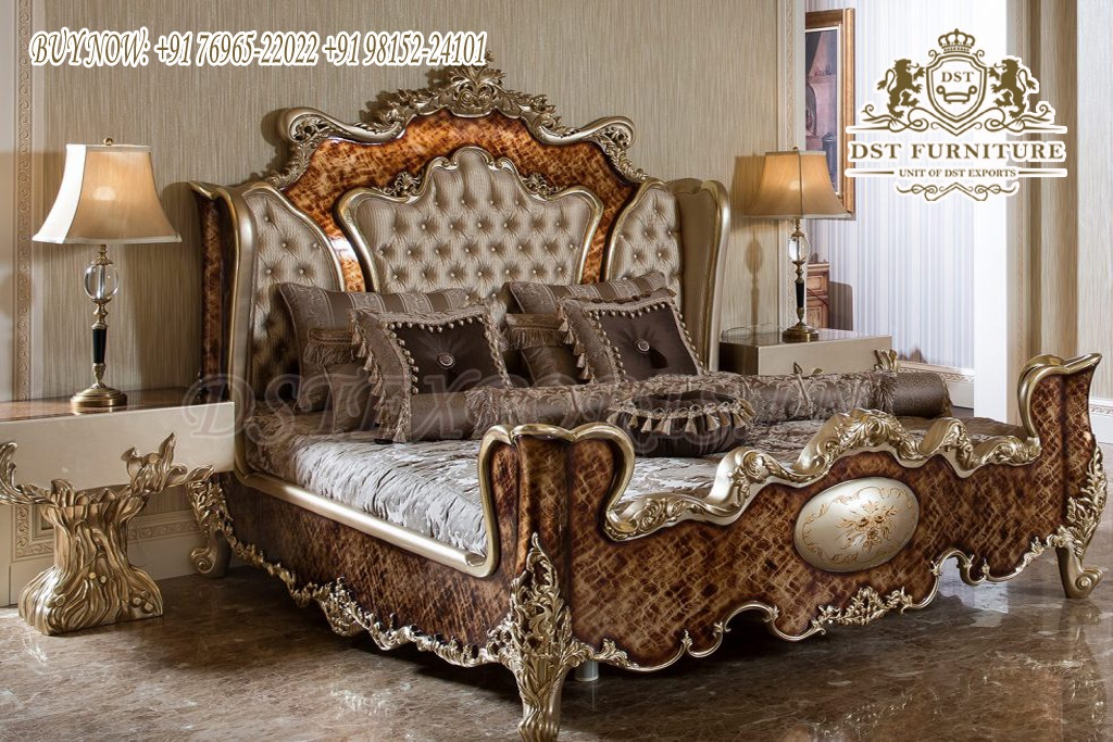 Antique Metallic Super Luxury Bedroom Furniture Set