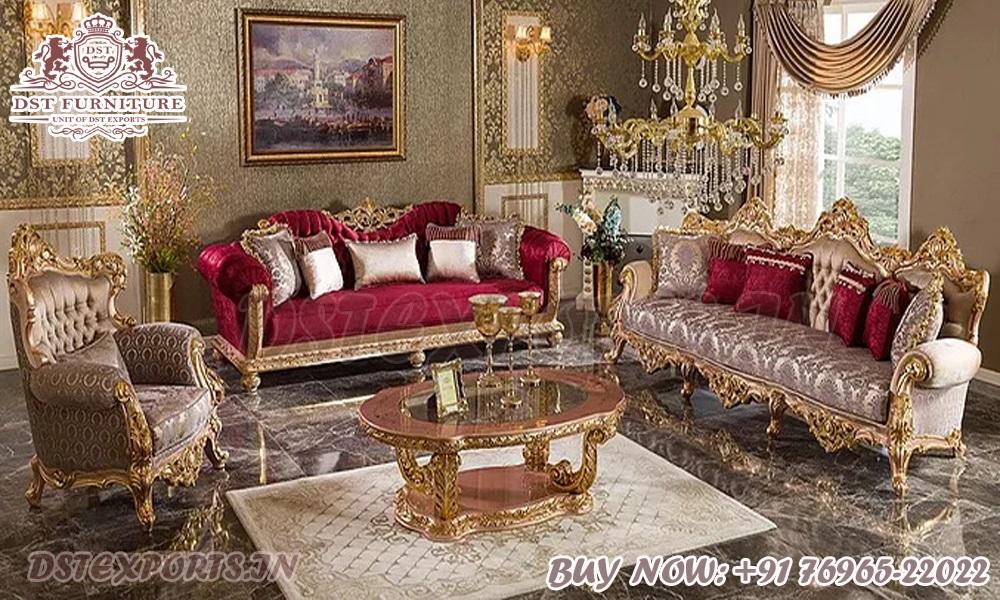 Best Luxury Carved Living Room Sofa Set