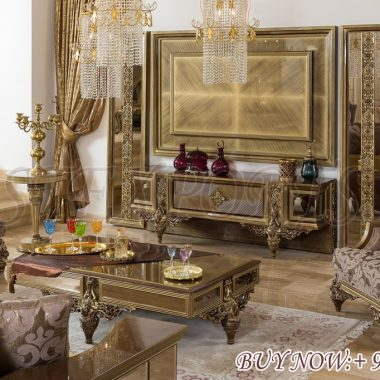 Buy Online Wooden Carved Luxury TV Stand Furniture