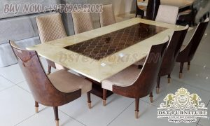 Buy Teak Wood Dining Table In High Gloss Finish