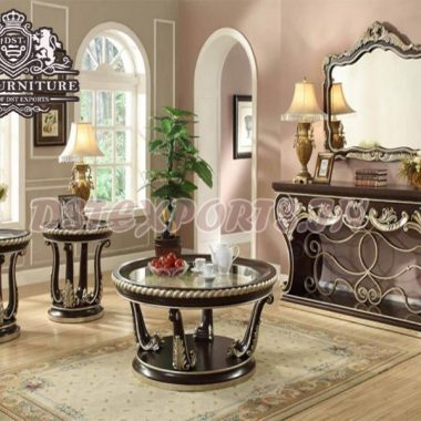 Buy Wooden Ornate Console Table & Mirror Set