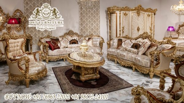Classic Style Heavy Carved Living Room Sofa