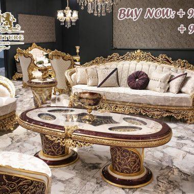Classical Teak Wood Sofa Set For Home