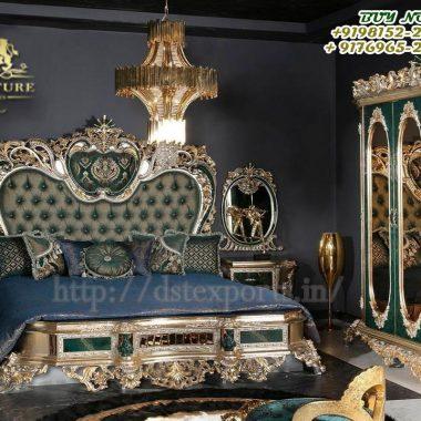 European Design Hand Carved Bedroom Furniture