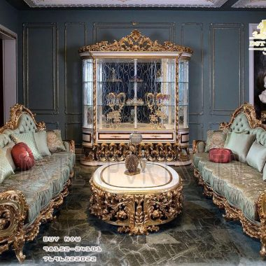 European Hand Carved Luxurious Living Room Furniture