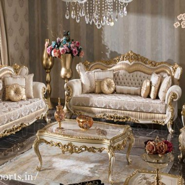 European Style Hand Carved Sofa Set For Home