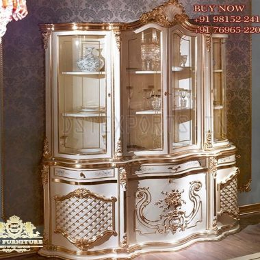 European Style Solid Wood Dining Room Cabinet