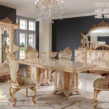 French Hand Carved Designer Dining Room Furniture
