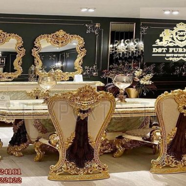 French Style Hand Carved Dining Room Furniture