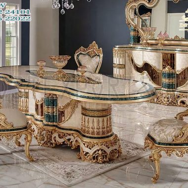 French Style Heavy Carved Dining Room Furniture