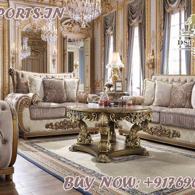 Italian Handmade Wooden Living Sofa Set